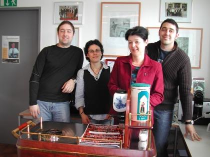 Chef-Diplom-Kaffeesommelier-Kurs, 7. - 11.April 2008  Michael Monika, Manuela Eric, Weinhandl Stojanovska, Bauer Weinhandl