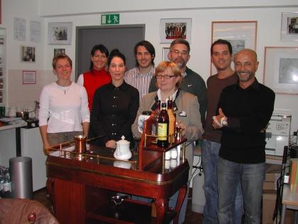 Chef-Diplom-Kaffeesommelier-Kurs, 19. - 23.11.2007  von links nach rechts:  M.Cebulla, G.Mock, M.Brandt, St.Sternad, W.Maierhofer, T.Lucas, A.Denz, H.Sögüt