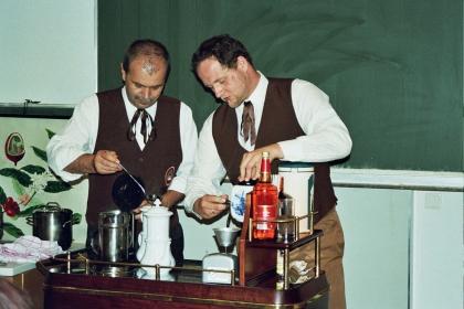 Hans Martin Simon,  Chef-Diplom-Kaffeesommelier und Vizepräs.   Peter Steininger,  Chef-Diplom-Kaffeesommelier