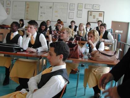 Unterricht an der Gastgewerbefachschule am Judenplatz