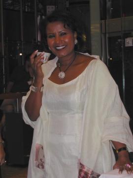 Auch Almaz Böhm liebt äthiopischen Kaffee.