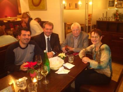 Luca Lentini, Markus Madar, Prof.Edelbauer, Karin Weidinger-Strasser