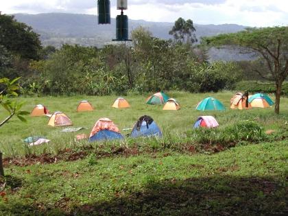 In den Kaffeeregionen Äthiopiens sind gute Hotels eher selten. Unser Ausweg – Zelten.