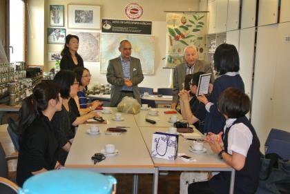 Begrüßung der Gäste aus Taiwan durch Hr. Direktor Dr. R.Streibel der VHS Hietzing.