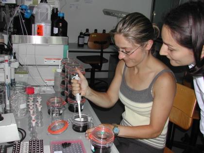 Übungen im Institut für Ernahrungswissenschaften der Uni Wien
