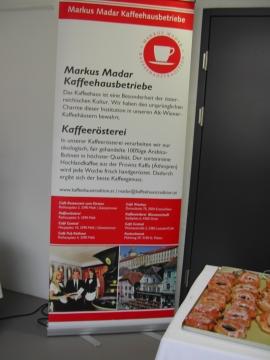Markus Madar bietet Kaffee nicht nur auf der Vinaria Kaffee aus der eigenen Rösterei