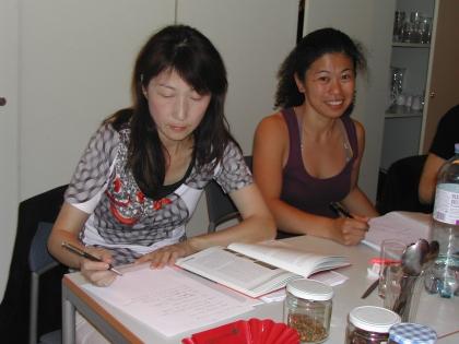 Hwa-Jiuan Cheng aus Thailand und Hoho Takayama aus Japan