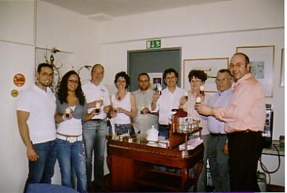 17. Sommelier-Kurs, 24. bis 28.April 2006  W.Jauk/S.Feier/Th.Falbesoner/G.Luger/M.Grüll/G.Chessa/Ehepaar Höckner/F.Grünwald  (in dieser Reihenfolge - von links nach rechts - stehen die Teilnehmer auf dem Foto)