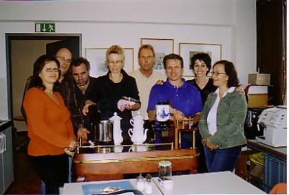 35. Kaffee-Experten-Kurs, 3. bis 6.Oktober 2005  G.Müller/Th.Falbersoner/D.Chovolos/E.Weniger/Mag.M.M.Holnsteiner/P.Gril/G.Luger/A.Kollmann  (in dieser Reihenfolge - von links nach rechts - stehen die Teilnehmer auf dem Foto)