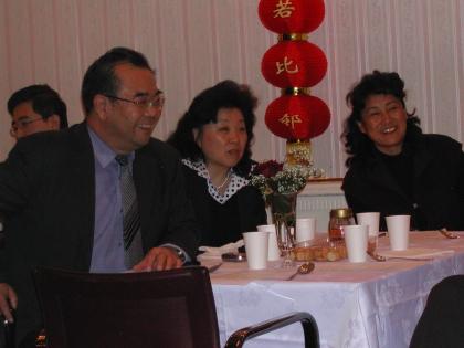 Botschafter Lu Yonghua mit Frau, Frau Botschaftsrat He