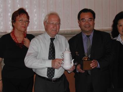 Frau Gudrun Edelbauer, Prof.L.J.Edelbauer, Botschafter Lu Yonghua