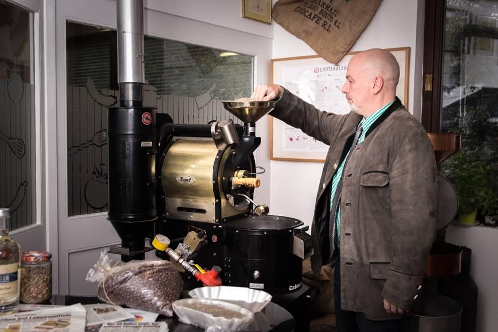 Die Probier-Ecke, für einen guten Kaffee notwendig.