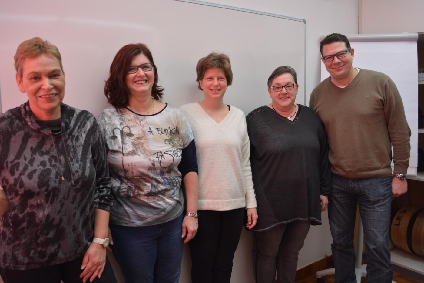 von links nach rechts: Frau Souba Manuela, Frau Gutmann Renate, Frau Dr. Suchomel Alexandra, Frau Pickl Anita, Herr Wolf Gerald
